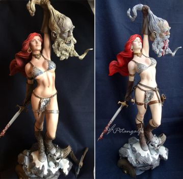 Repaint Red Sonja - Sideshow by Bluudy