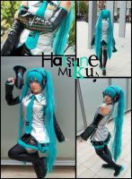 Miku Cosplay collage by mmmhOmoshiroi