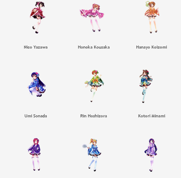 [ Share ]  Pack Render Love Live by SSLac-Tome