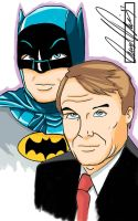 Adam West Batman by kookyeyez
