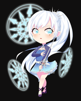 RWBY Weiss Schnee Chibi by ComaKid21