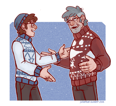 Christmas Hugs and Sweaters by Tenshi-Inverse