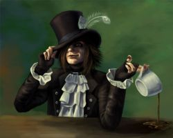 Mad as a Hatter Self Portrait by Kitsune-aka-Cettie
