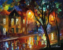 The best evening by Leonid Afremov by Leonidafremov