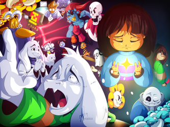 Happy 3rd Anniversary, Undertale! by iAbokai