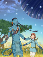 Pandora: Nausicaa and Neytiri by ErinPrimette