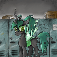 Teenage Chrysalis in High School by InfinitusSketch