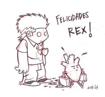 Happy B-day Rex by Monkey-Cosio