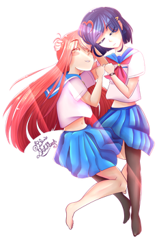 Flip Flappers [Papika x Cocona] by BluesSketchbook