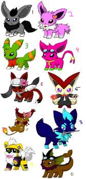 Adoptables 16-- CLOSED by Mdpikachu