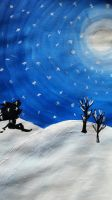 Sonic Winter Silhouette by Soshadilver