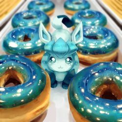 Dessert Series -- Glaceon x Doughnuts by veetasoy