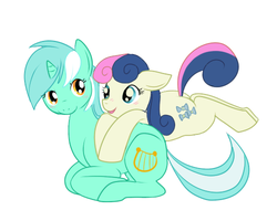 Lyra and Bon Bon by lulubellct