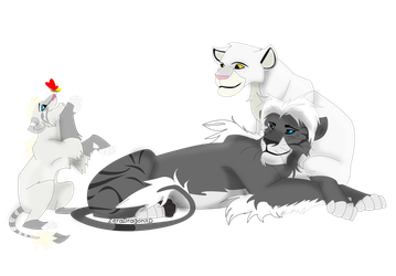 Litlle Family by Mganga-The-Lion