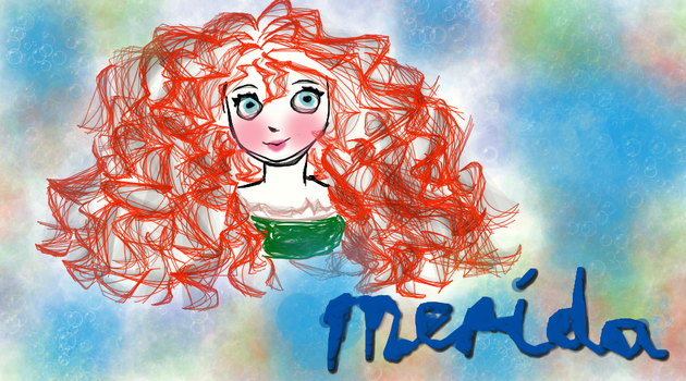 Merida Sketch by Camelot-Angel