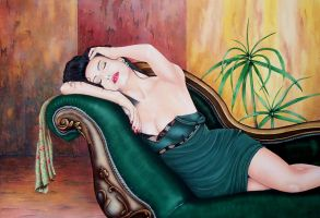 Reclining by petebud