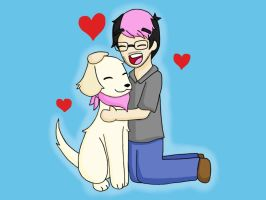 Markiplier and Chica by KammyBale