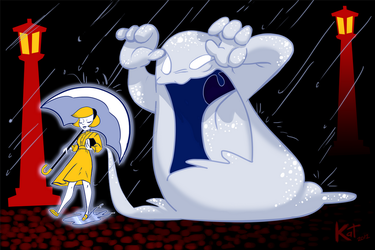 Arcade Stick Commission - Salt Girl and Monster by Miss-Interocitor