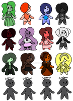 10pt Gems Adopts 2 (3/16 Open) by Tak0yama