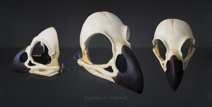 Raven skull Mask - painted by Bueshang