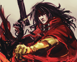 Happy Birthday Vincent Valentine *A* by gravitybeams