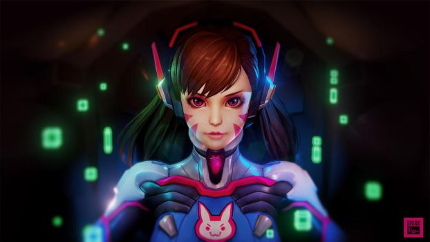 [OverWatch Fan art] Dva by phungdinhdung