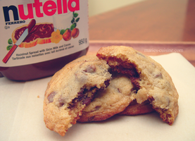Nutella Stuffed Chocolate Chip Cookies by maytel