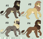 Lion King Adoptables [CLOSED] by CylaDavenport