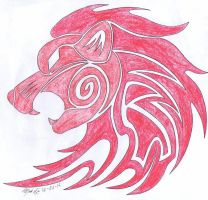 Request 2 of 5: Red Lion Symbol by WolfRaid