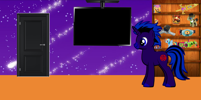 Shadow Wizard (aflstudio1 mlp OC) in his room. by afl300