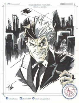 Humberto Fuentes Two Face  by Club-Batman
