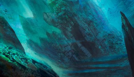 Ancient submersed ruins by Nahelus