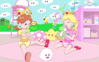 Peach and Daisy's ABDL playdate by PrincessPolly63