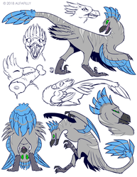 Com: Nerhri Sketchpage by AlfaFilly