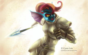 Undyne - Undertale by tushantin