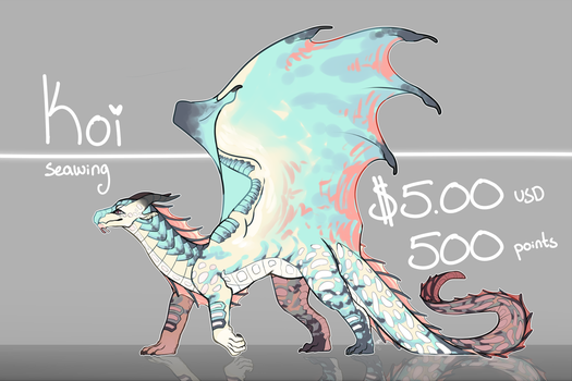 [CLOSED] Koi|seawing adopt by Crionym