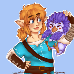 Link and a Rito by BookJustice