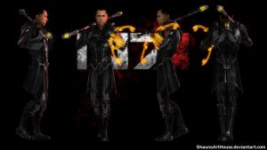 Mass Effect Occitania - Danny Yung (Donnie Yen) by ShaunsArtHouse