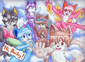 Fairy Foxes - For Bailey by StickFreeks