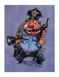 Zombie-Hatin' Cop by RobbVision