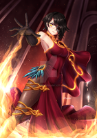 Cinder Fall x Prints by ADSouto
