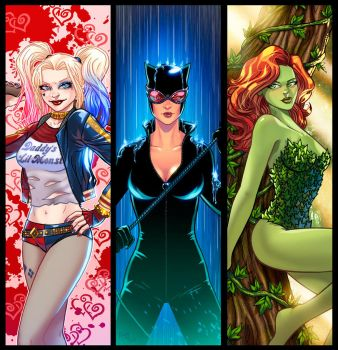 Gothem Sirens Panel Grouping by RichBernatovech