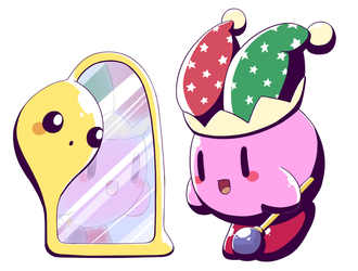 Mirror Kirby by aquabluu