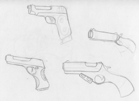 More guns by ObsidianGrey