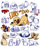 Elvis the Dog - Character Sheet by LilBruno