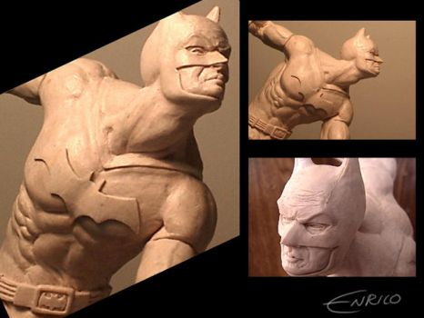 Batman sculpt stage one by enricobotta