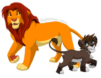 Simba and Sora by Nightrizer