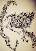 Tribal Pegasus by tattoo-love-forever