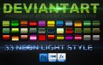 33 Neon Border Photoshop Style by Chankreative