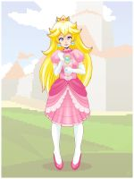 Princess Peach by Louistrations